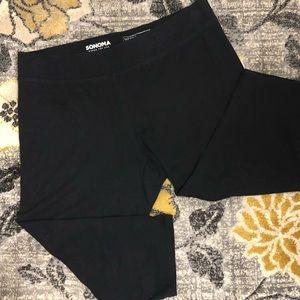 Sonoma Crop Capri Leggings XL  Black